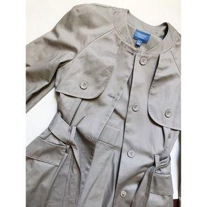 Simply Vera Vera Wang Tan Trench Coat Size Small